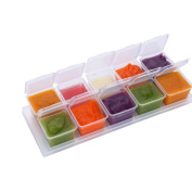 Zhuhaixmy Mini Baby Food Containers Boxes with Tray Safely Freezer Storage for Homemade Vegetable Sauce