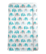 My Babiie Billie Faiers Baby Waterproof Changing Mat - Nelly the Elephant Blue