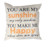 iiniim Motivational and Inspirational Quote Cotton Linen Home Decorative Throw Pillow Case Cushion Cover Sofa Couch, 46cm x 46cm English Letters 46cm x 46cm