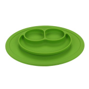 silicone dinner plate Grade Silicone Suction Anti Slip Portable Divided Section Smile Toddler Baby Feeding Tray Plate Bowl