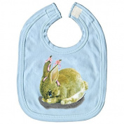Baby Bibs with Print - Rabbit Rabbit - l12778 - versch. Colours Colour Light Blue