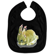 Baby Bibs with Print - Rabbit Rabbit - l12778 - versch. Colours Colour Black