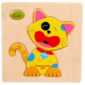 Youkara Cat Magnetic Jigsaw Puzzle Toy for Kids Children Wisdom Development Puzzle Educational Toy Child Gift