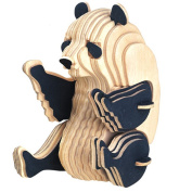 TOYMYTOY 3D Wooden Animal Puzzles Panda 3D DIY Assembly Model Toy Educational Toy for Kids and Adults