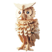 TOYMYTOY 3D Wooden Animal Puzzles Owl 3D DIY Assembly Model Toy Educational Toy for Kids and Adults