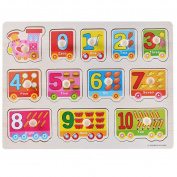 Colourful(TM) Kid Early Educational Toys Baby Hand Grasp Wooden Alphabet Puzzle Toy