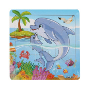 Winkey Education Toy for Kids, Wooden Whale Jigsaw Toys For Kids Education And Learning Puzzles Toy
