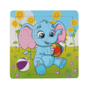 Winkey Education Toy for Kids, Wooden Elephant Jigsaw Toys For Kids Education And Learning Puzzles Toys