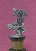 Wales Flag UK Made Pewter Bottle Stopper