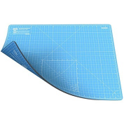 ANSIO A2 Double Sided Self Healing 5 Layers Cutting Mat Imperial/Metric 16 Inch x 22 Inch / 43cm x 58cm - True Blue / Sky Blue