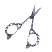 Mmrm Stainless Steel Antique Plum Blossom Trimmer Scissor Cross-Stitch Vintage Sewing Embroidery Tool---Silver