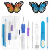 Magic Embroidery Pen Kit, AresKo Embroidery Pen Punch Needle Craft Tool for Embroidery Threaders