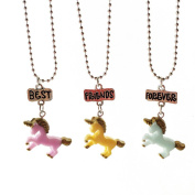 Gemini_mall® Best Friends Gifts, 3pcs BFF Best Friends Forever Unicorn Necklaces Friendship Love Gifts for Kids Girls Boys Teens