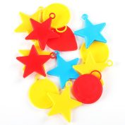 Helium Balloon Weights 25PC Assorted Shapes and Colours Stars Hearts Smiley Faces for Kids Parties TRIXES