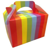10 x Rainbow ~ Birthday Food Meal Loot Party Boxes Gift Favour Box MBB