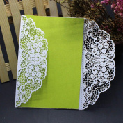Wedding Invitation Card ,Xshuai® 10x Elegant White Laser Cut Wedding Invitations Cards Kit with Lace and Hollow Pattern Cardstock for Baby Shower Bridal Shower Engagement Birthday Fancy Party (White, 003