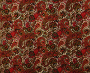 Cotton Fabric Paisley Print 110cm Wide Sewing Dressmaking Material By The Metre