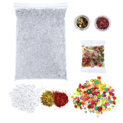 310mls Fishbowl Beads Slime with Glitters and Fruit Nail Decor Slices for Arts Crafts Making DIY