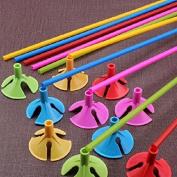 S-LOVE Random Colour Plastic Balloon Prop Rod Holder Sticks with Cup Wedding Party Home Decor 20 pcs