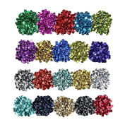 Loose Sequins Bulk Cup Sequin Iridescent Spangles for DIY Arts Crafts Making, 6 mm, 100 Gramme
