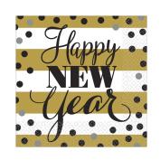 "Amscan International 1299640cm Golden New Year"" Printed Napkin"