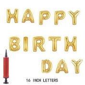 Air Pump + 41cm Cute Colourful Alphabet Letters foil Balloons Happy Birthday Party Decoration Supplies