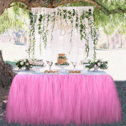 Tutu Tulle Table Skirt Tablecloth Skirt for Wedding Party Baby Shower Girl Christmas Birthday Party & Home Decoration feierna