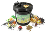 WellPackBox Giant 23 Bug Bucket Detailed Large Size Insect Toy Figures For Kids Boys Girls Toddlers In Durable Bucket