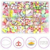 Kvvdi Pop Snap Beads Set Toy Beads Jewellery Making Kit for Rings, Bracelets, Necklaces - Educational Pop-Arty Beads for Girls