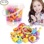 Pop Snap Beads Girl Toys Arty Crafts Toy Snap Beads for Jewellery Making - Wishtime Fashion DIY Jewellery Making Kit