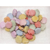 BARGAIN HOUSE Ocean animals Shell Seashell,Plastic Beads Crafts Assorted Pastel Colour For Kids DIY