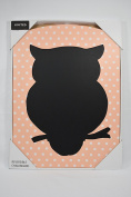 Peach Owl Children 2-sided Reversible Chalkboard by Limited Kids