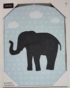 Light Blue Elephant 2-Sided Reversible Childrens Chalkboard by Limited Kids