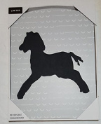 Grey Horse 2-Sided Reversible Childrens Chalkboard by Limited Kids
