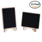 Eyech 15PC Mini Chalkboard for Message Board Signs Wedding Party Table Numbers Place Decor Blackboard