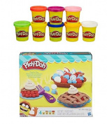 Play-Doh Playful Pies Play Set + Play-Doh Rainbow Starter Pack Bundle