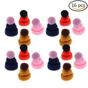 Ioffersuper 16 Pcs Mini Hat Brooch Cute Corsage Gift Pin Dress Scarves Shawl Clip