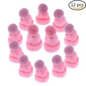 Ioffersuper 12 Pcs Mini Hat Brooch Cute Corsage Gift Pin Dress Scarves Shawl Clip