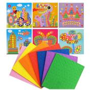 Mosaics Dinosaur, Butterfly, Flower, Crown, Rocket, Vehicle cute 6 pattern design craft sticker