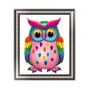 Kofun DIY Colourful Lovely Owl5D Diamond Painting Crystal Embroidery Crafts Cross Stitch Art Craft Home Room Wall Decor 30x35 cm