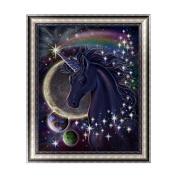Kofun DIY Cross Stitch 5D Diamond Embroidery Painting Art Craft Unicorn In Universe