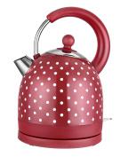 Kitchen Originals by Kalorik JK39083 Kitchen Originals Polka Dot Dome Kettle, Stainless Steel