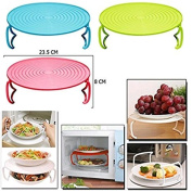 Arpoador Microwave Tray Folding Multi Round Holder Rack Double Support Cover