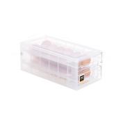 Refrigerator Egg Storage Box Drawer Kitchen Crisper Transparent Plastic Box Egg Tray 24 Grid Storage Box