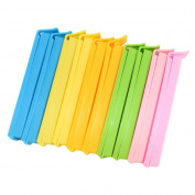 ChenRui(TM)Pack of 10pcs Colourful Plastic Sealing Bags Clip Kitchen Craft Bag Clips