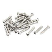 Unique Bargains M6x30mm Stainless Steel Phillips Round Pan Head Machine Screws 25pcs