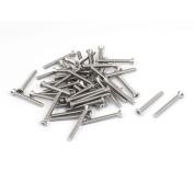 Unique Bargains 6#-80cm x 3.2cm 304 Stainless Steel Phillips Flat Countersunk Head Screws 50pcs