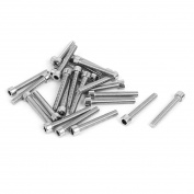 Unique Bargains 25pcs 4mm Stainless Steel Hex Key Socket Head Cap Screws Bolts M5x0.8mmx35mm