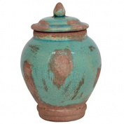 Decorative Turquoise Storage Jar with Lid Danish Design by Ib Laursen