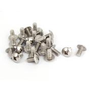 Unique Bargains M6x12mm Stainless Steel Truss Phillips Head Machine Screws 25pcs